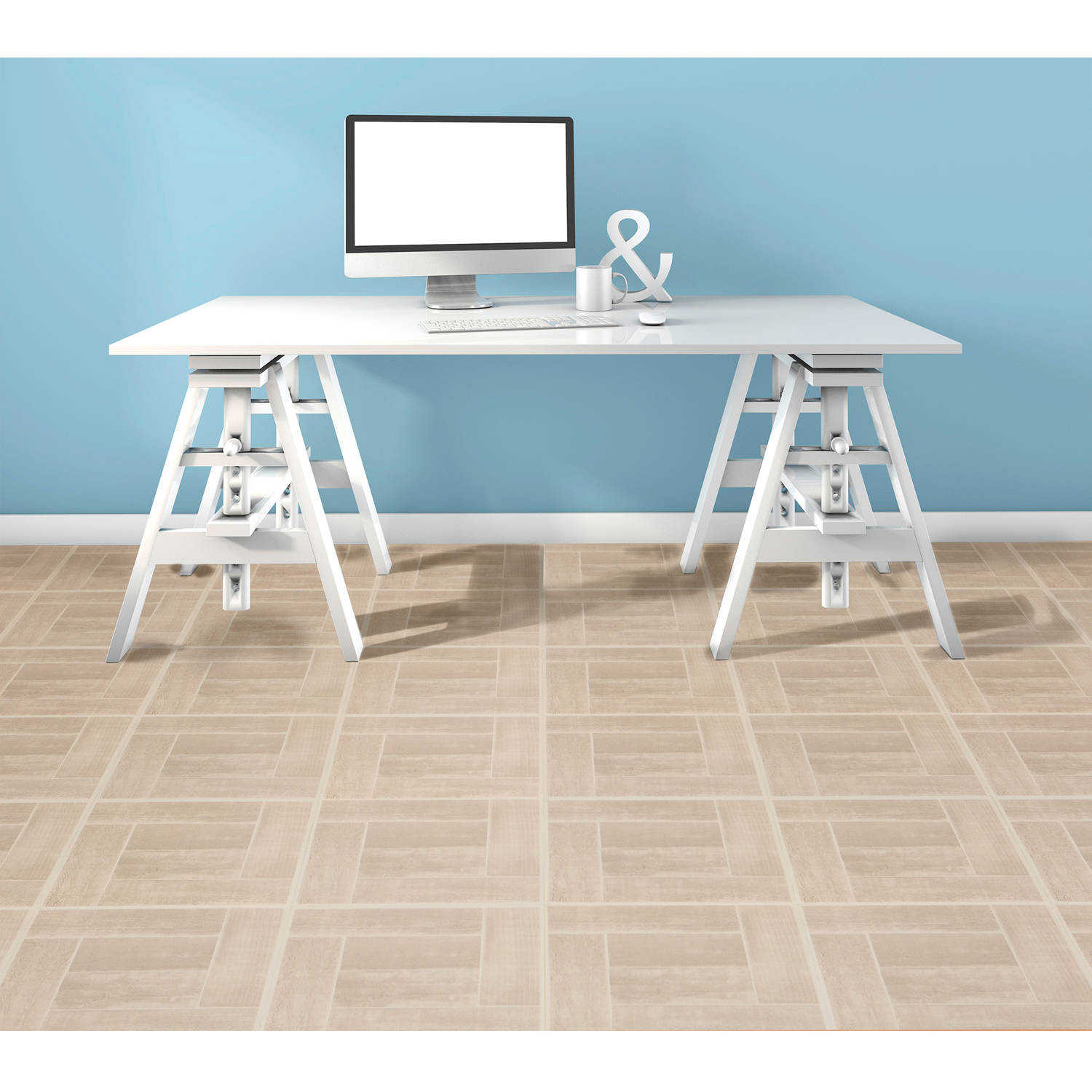 Achim Tivoli Saddlewood 12x12 Self Adhesive Vinyl Floor Tile - 45 Tiles/45 sq. ft.