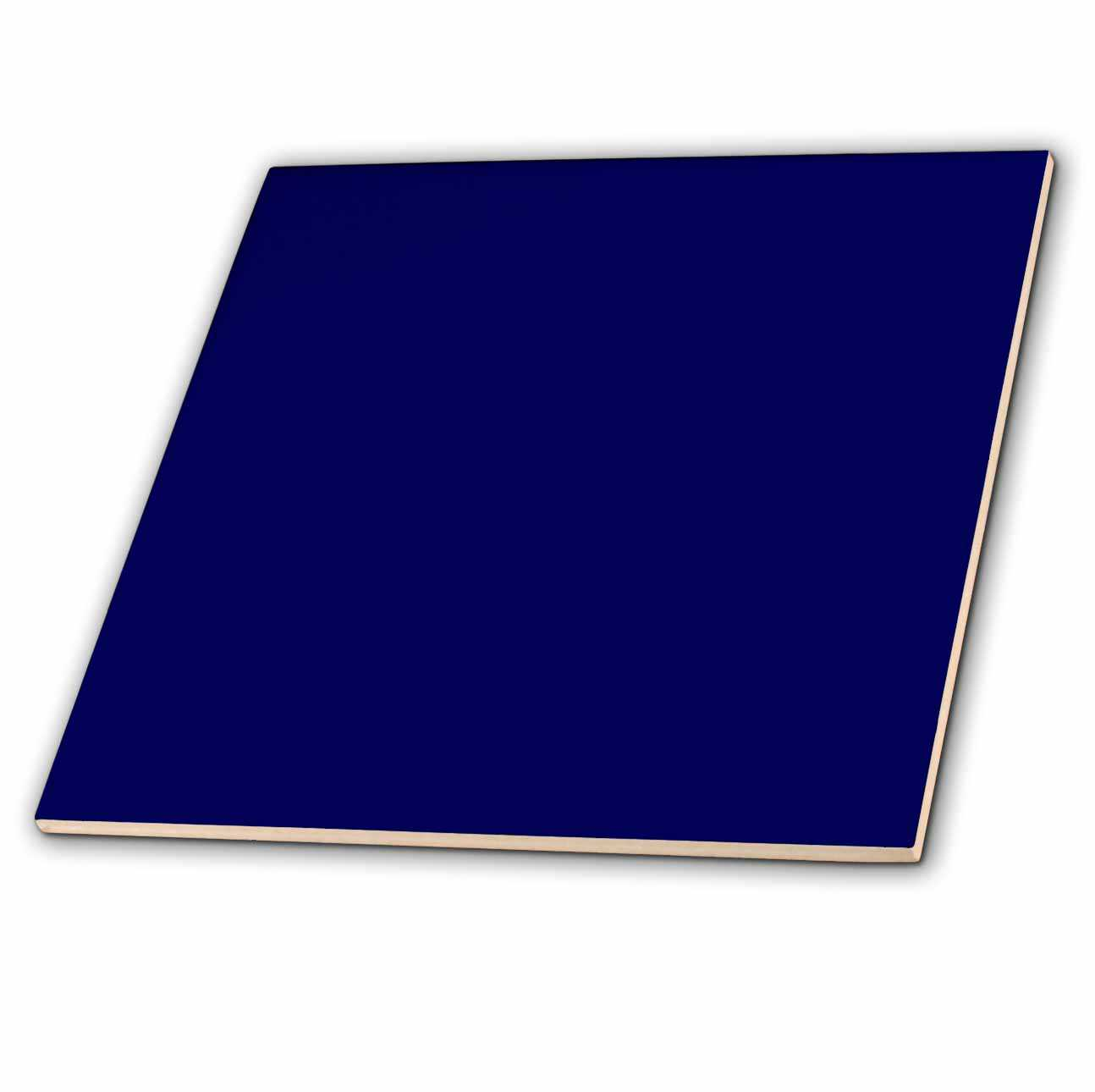 3dRose Navy Blue - Ceramic Tile, 12-inch