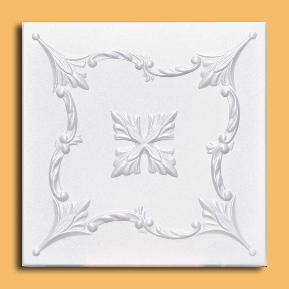 White Styrofoam Ceiling Tile Saratov (Case of 40 Tiles) - same as Sonnet and R138