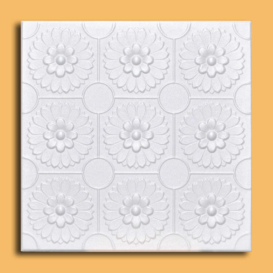 White Styrofoam Ceiling Tile Odessa (Case of 40 Tiles) - same as Sunflowers and R136