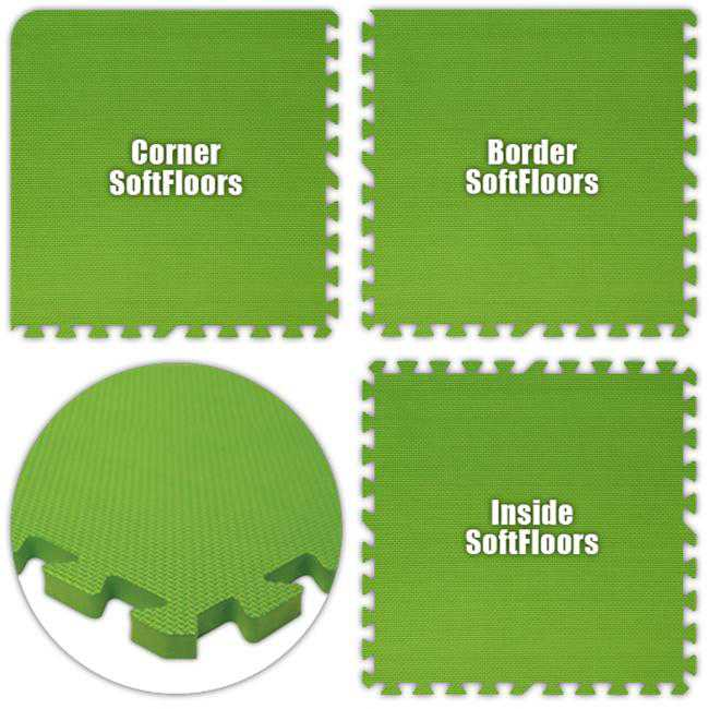 Alessco SFLG2048 SoftFloors -Lime Green -20 x 48 Set