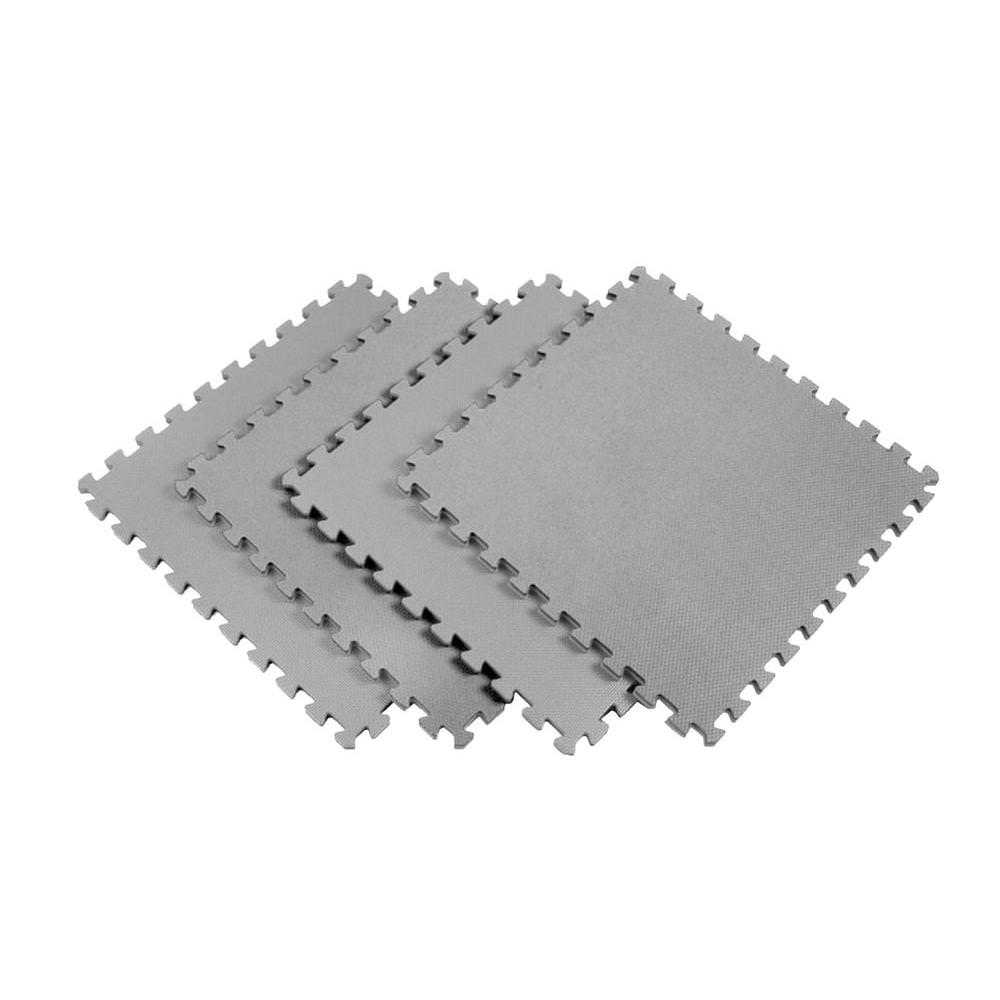 Norsk Gray 24 in. x 24 in. EVA Foam Solid Color Multi-Purpose Interlocking Tile (20-Tile)